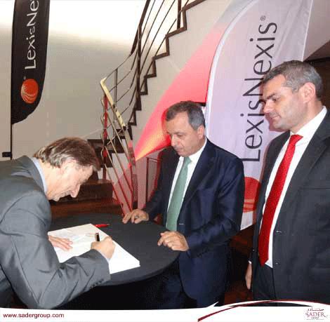 Le Bâtonnier de Beyrouth participe  à la rencontre annuelle du club Lexis Nexis à Paris